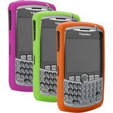 8300 Gel (BlackBerry Curve 8300 Gel Skins Tri-Pack (Green, Magenta and Orange) in Retail Packaging)