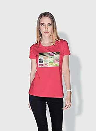 Creo Tapes Retro T-Shirts For Women - Xl, Pink