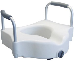 Locking Raised Toilet Seat: Retail Package, Without Armrest, - 3 EA/CS
