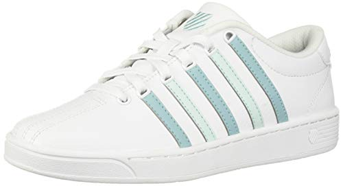 K-Swiss Women's Court Pro II CMF Sneaker White/Aqua Haze/Soothing sea 7.5 M US ()