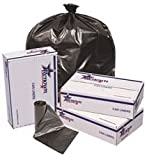 RENOWN GIDDS-2478858 Renown Trash Can Liners, Black, 24 x 32.70ml, 50 Liners Per Roll, 10 Rolls Per Case