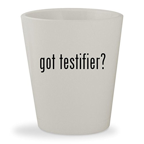 got testifier? - White Ceramic 1.5oz Shot - August Glasses Alsina