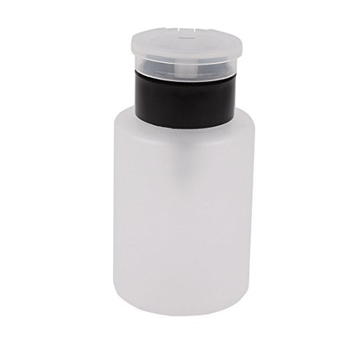 Nail Art eDealMax plástico removedor vacío dispensador de la Bomba del cilindro Botella 160 ml Negro
