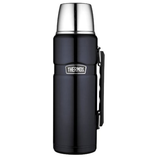 Thermos SK2010MBTRI4 Beverage Bottle, Hot/Cold, Blue Mirror Stainless Steel, 40-oz. - Quantity 4 by M.V. Trading