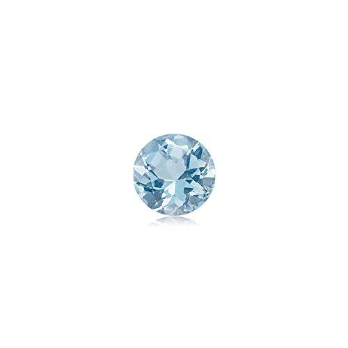 0.22-0.27 Cts of 4 mm AA Round Genuine Natural Aquamarine ( 1 pc ) Loose Gemstone
