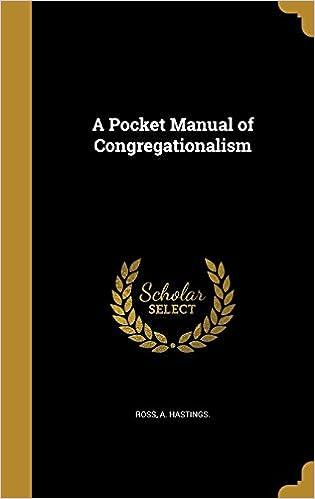 Book A Pocket Manual of Congregationalism
