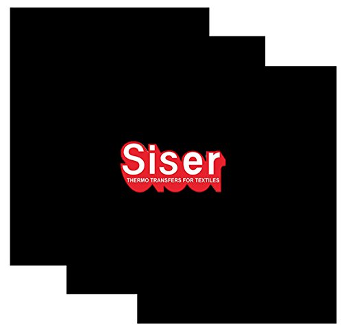 SISER EasyWeed Heat Transfer Vinyl HTV for T-Shirts 12 x 15 Inches 3 Precut Sheets (Black)