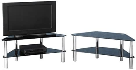Norton Meuble Tv D Angle Moderne En Verre Fit 2 Etages