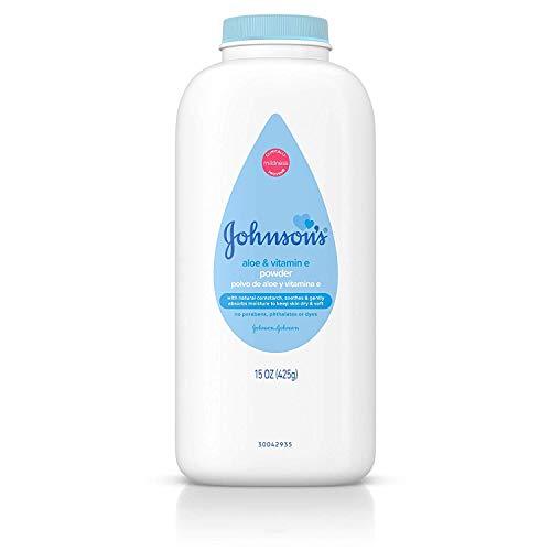 JOHNSON'S Aloe & Vitamin E Baby Powder 15 oz (Pack of 3)