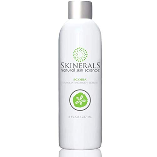Skinerals Liquid Body Scrub Wash - Gentle Exfoliating Soap with Natural and Organic Ingredients - Paraben Free & Vegan - Great for Self Tan Prep (Rodan And Fields Self Tanner Before And After)