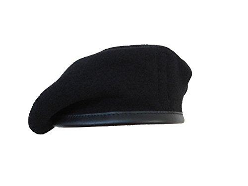 Diseño militar de pareja de boinas de alta calidad - British Made - 100% de la unidad de lana colores en todas las Black (Royal Tank Regiment)