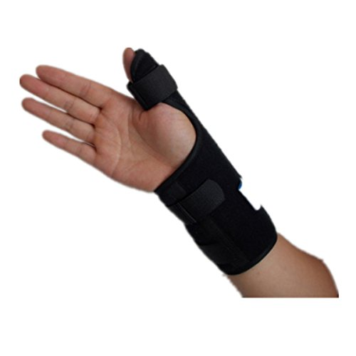 ROSENICE Medical Thumb Splint Right Hand Elasticated Support Brace with Wrist Strap for Sprains Strains -