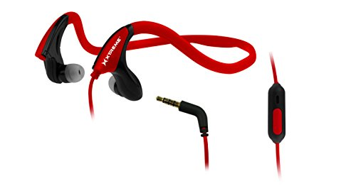 Xtreme Cables Wired Headset for Compatible Any 3.5mm Device - Retail Packaging - Red
