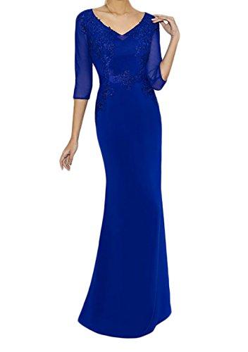 Royal Blau Partykleider Brautmutterkleider Marie Braut Langarm ...