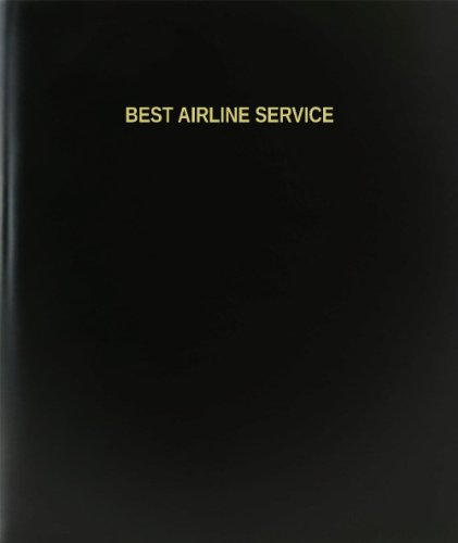 BookFactory Best Airline Service Log Book / Journal / Logbook - 120 Page, 8.5''x11'', Black Hardbound (XLog-120-7CS-A-L-Black(Best Airline Service Log Book)) by BookFactory