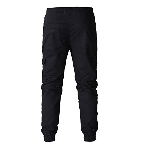 De Jogging homme 2018 Mode Sweatpant Pantalon Sport Manadlian Unie Poches Multi Noir Couleur Pants 0HSqpETwx