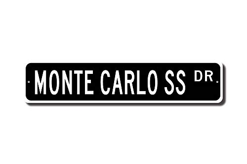 S, Chevrolet Monte Carlo SS Sign, Chevy Monte Carlo SS Gift, Chevy Monte Carlo Owner, Custom Street Sign, Quality Metal Sign ()