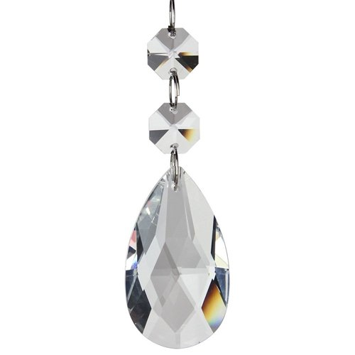 Clear Teardrop Crystal Chandelier Pendants Glass Pendants Beads Pack of 10 Great for Wedding Decoration, House Rooms, Jewelry Necklaces Making, Christmas, Art Projects