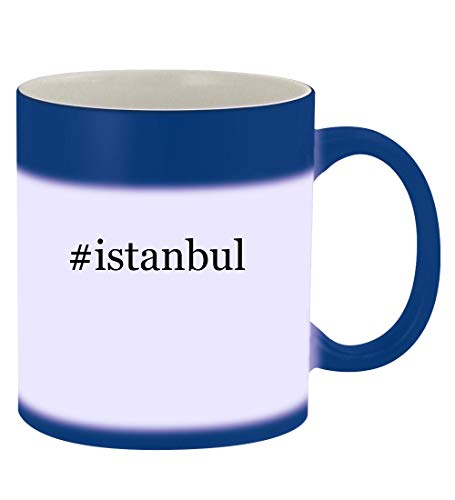 #istanbul - 11oz Hashtag Magic Color Changing Mug, Blue (Best Time To Travel To Istanbul 2019)