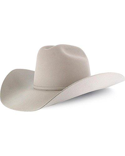 RODEO KING Men's 7X Felt Cowboy Hat Cream 6 7/8