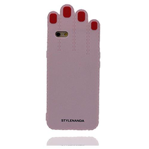 """iPhone 7 (4.7"""") Coque, [ de matériau TPU souple palm ] iPhone 7 étui (4.7 pouces), poussière glissement résistant aux rayures, iPhone 7 Case et Bouchon anti-poussière"""
