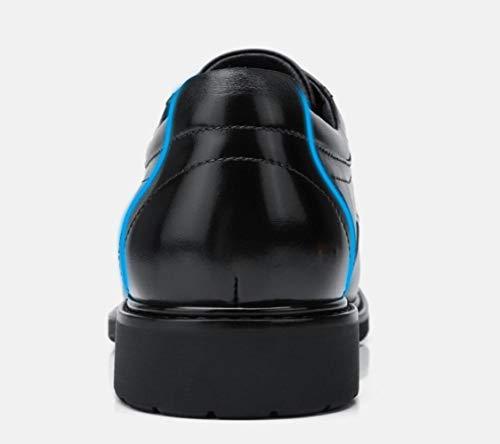 in Casual Nere Scarpe da Black Antiscivolo da Uomo Derby Autunno Uomo Uomo Scarpe da 2018 Marrone Pelle Scarpe qZxE7HwX