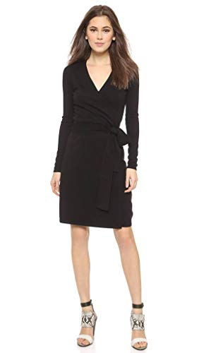 (Diane von Furstenberg Linda Knit Wool and Cashmere Blend Wrap Dress in)