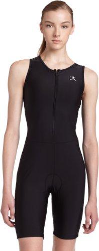 Danskin Women's Triathlon Solid Tri-Suit,Black,L (12-14)
