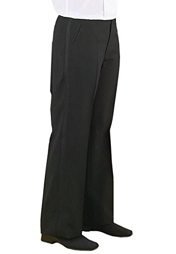 Neil Allyn Tuxedo Pants for Men - Comfort Fit Expandable Waist Black (Black Tuxedo Pants)