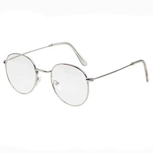 2fbdb99ed1ca Simvey Classic Vintage Round Circle Metal Glasses Frame Clear Lens