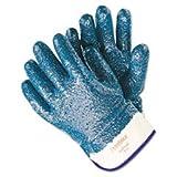 Predator Premium Nitrile-Coated Gloves, Blue/White, Large