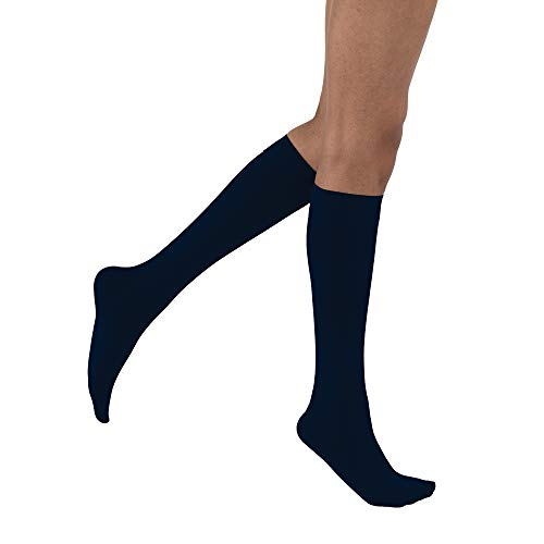 JOBST Opaque SoftFit 15-20 mmHg Closed Toe Knee High Compression Stocking, Midnight Navy, X-Large