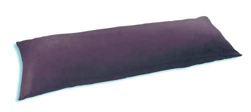 International Body - Newpoint International Inc. Microsuede Body Pillow Cover With Double Sided Zippers, Grape