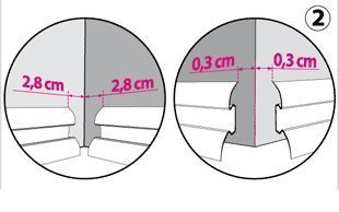 Endst/ück links 52mm PVC Ulme kanadisch Laminatleisten Fussleisten aus Kunststoff PVC Laminat Dekore Fu/ßleisten DQ-PP