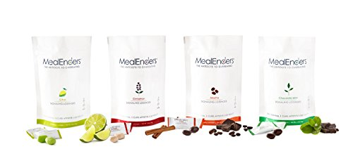 MealEnders Signaling Lozenges — Control Appetite and Cravings, Stop Overeating, and Boost Your Diet Weight Loss Program, 25-Count Bag (Pack of 12) (Moch/Cit/Cinn/Choc. Mint) by MealEnders (Image #1)