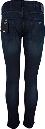 Dyed Dark Fly 1d0iz Zip Blue Fit Ea Faded Jeans 8n1j06 Slim Over J06 Armani qYwtfa7xP