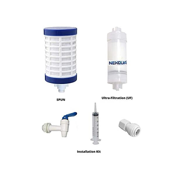 NEXQUA Dew Non-Electric Ultra Filtration (UF) Based Gravity Water Filter and Purifier With 14 Litre (7+7 Litre Combined… 2021 June Storage Capacity: The purifier with an enhanced storage capacity of 14 liters ensures that you get readily available drinking water at all times. Technology: ultra filtration(UF) membrane based water purification, Non-Electric Gravity based And Chemical Free Purification Water Tank: 14 L, Purified Water Tank:6.8 L, Raw Water Tank:7.2 L