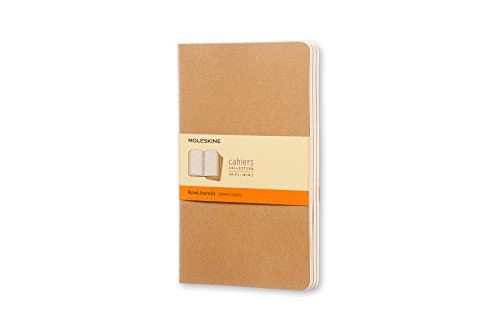 Moleskin Brown (Moleskine Cahier Soft Cover Journal, Set of 3, Ruled, Large (5