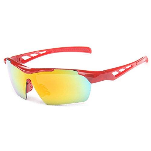 Sinkfish SG80023 Cycling Sunglasses for Women,Anti-UV & Fashion Reflector - UV400/Red - Welder Style Sunglasses