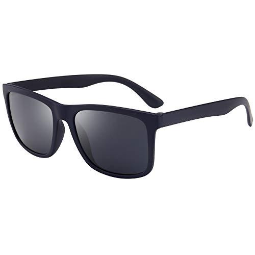 BEEAN Polarized TR90 Lightweight Sunglasses Classic Retro Sun Glasses for Men Women, Blue, ()