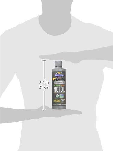 Garden of Life Dr. Formulated Brain Health 100% Organic Coconut MCT Oil 16 fl oz Unflavored, 13g MCTs, Keto & Paleo Diet Friendly Body & Brain Fuel, Certified Non-GMO Vegan & Gluten Free, Hexane-Free 13