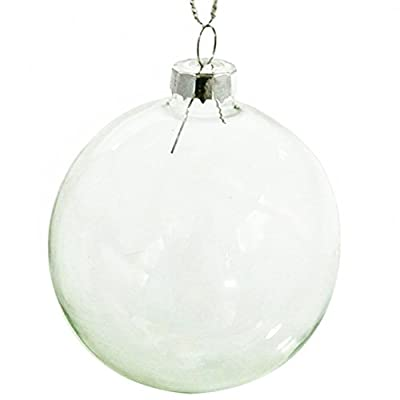"Christmas Ornaments Ball, Clear Glass Balls Perfect Use for Family Drawing Room, Wedding and Party (3.15"")"