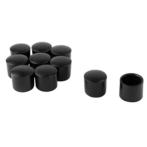 uxcell PVC Leg Caps Tips Cup Feet Covers 13mm 0.51'' Inner Dia 10pcs Moisture Resistant Ceramic Floor Protector Non-Slip for Furniture Chair Desk Round by uxcell
