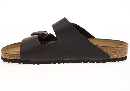 Birkenstock Women's Classic Cork Footbed Arizona 2-Strap Sandal In Natural Leather, Smooth Black Natural Leather' (37 M EU/6-6.5 B(M) US Women) by Birkenstock (Image #4)
