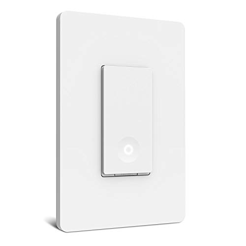 Smart Light Switch, Laghten Wi-Fi Light Switch, Works with Alexa, Google Assistant and IFTTT, Single-Pole, Schedule, Remote Control, Neutral Wire Required, Easy Installation, No Hub required –