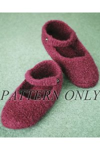 Crocheted Felt Ballet Slippers Pattern (Crocheted Felt Slippers)