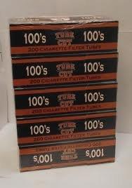 Gambler Tube Cut Full Flavor 100 Cigarette Tubes (200 Ct Per Box) 5 Boxes ()