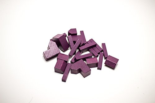 YorksGamePieces Purple Wood Replacement Pieces for Settlers of Catan