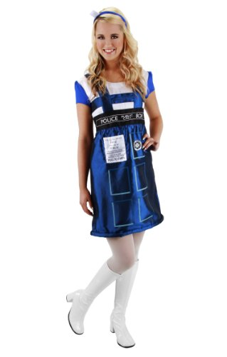 Who Doctor Women Halloween For Costume (DOCTOR WHO TARDIS DRESS SM MD)