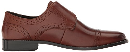 Nunn Bush Mens Newton Cap-toe Monk-strap Slip-on Loafer Bruine